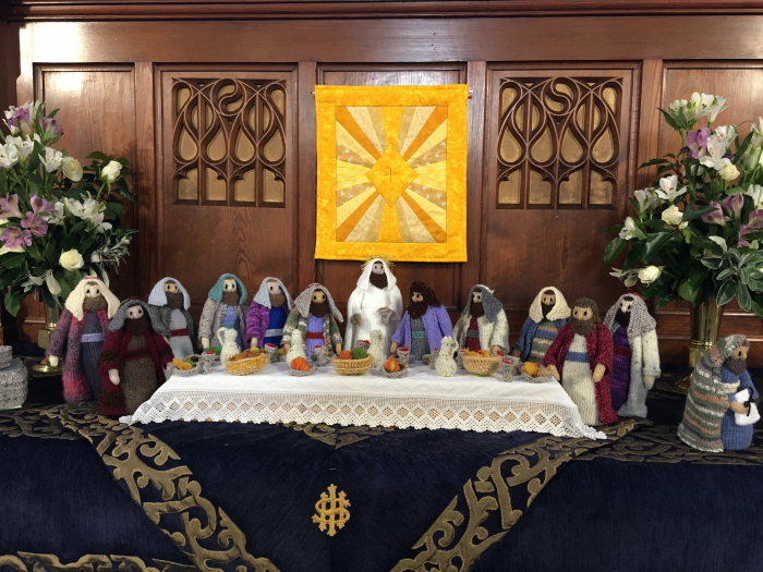 Knitted Last Supper