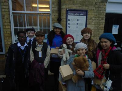 Some of the Chidren Waiting at Kings Cross